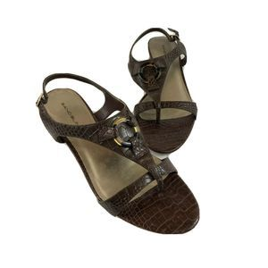 Bandolino Leather Women's Brown 8M Shoes